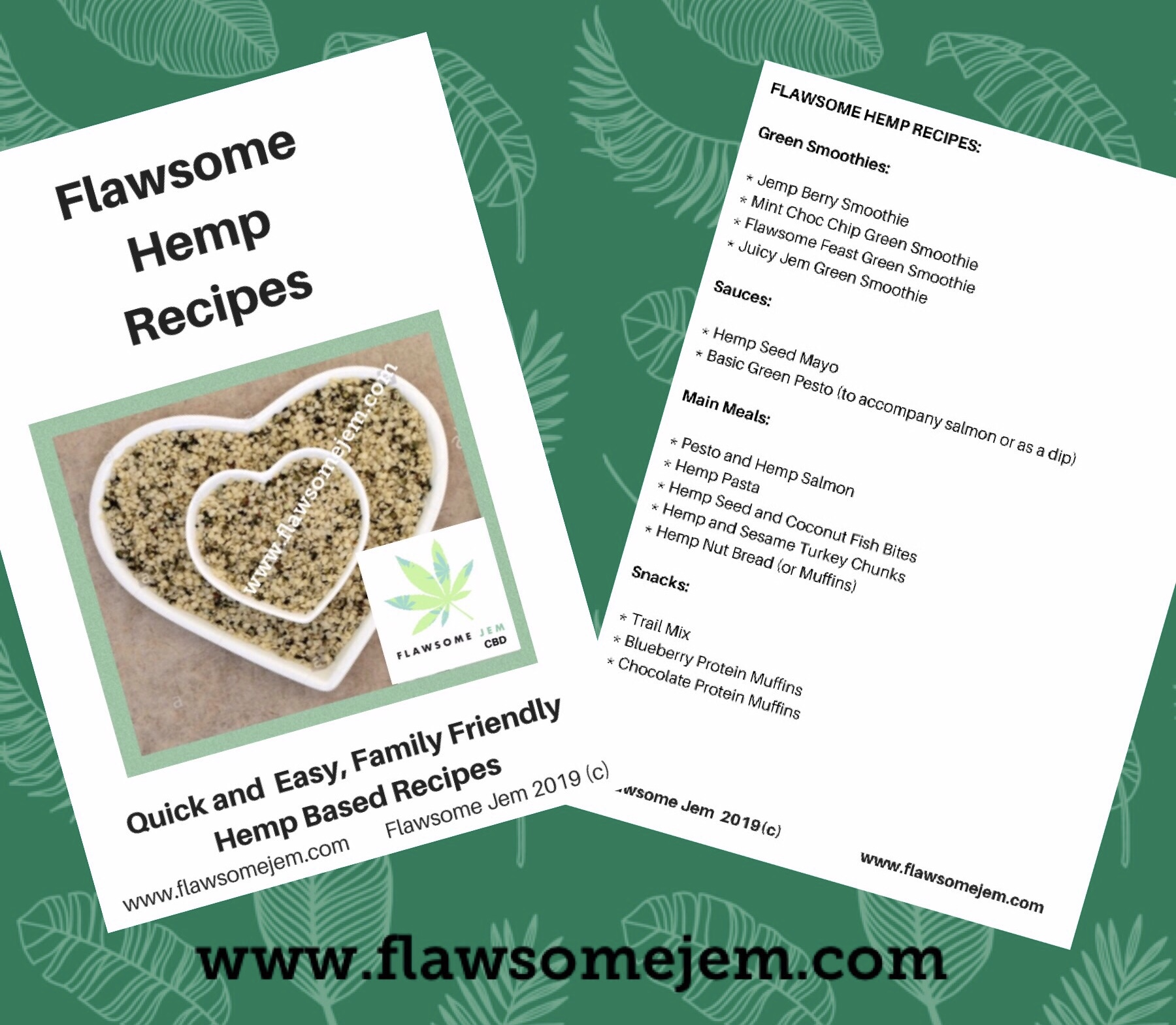 Flawsome Hemp Recipes Book