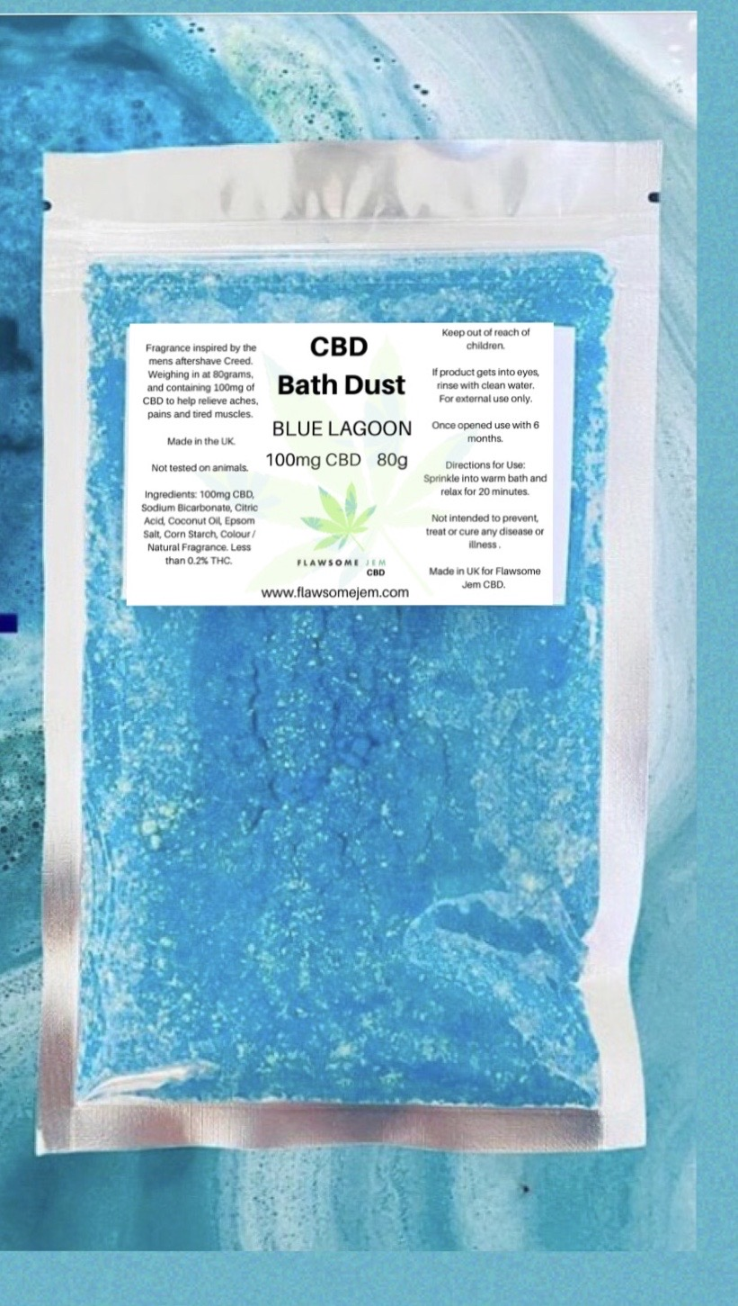 CBD Bath Dust, Blue Lagoon (100mg)